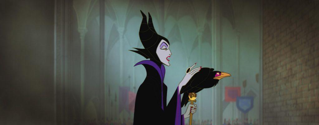 """Malefica, la cattiva del classico Disney """"La Bella Addormentata""""."""