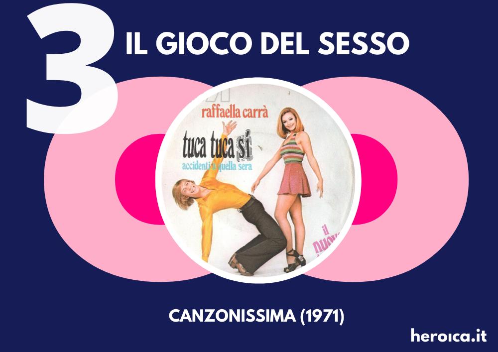 "Raffaella Carrà, Liberazione Sessuale: ""Tuca Tuca"" a Canzonissima 1971."