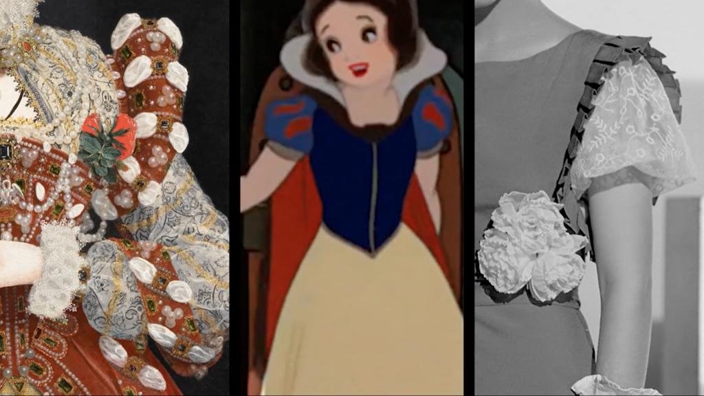 L'abito di Biancaneve è ispirato alle maniche a sbuffo degli anni '30